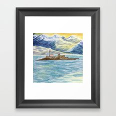 lighthouse island Framed Art Print