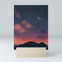 Aesthetic Sunset Mini Art Print