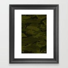 Modern Woodgrain Camouflage / Greenwoods DPM Framed Art Print