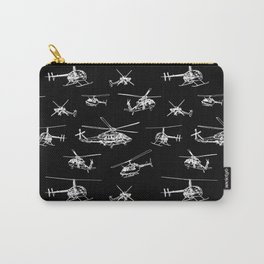Helicopters on Black Carry-All Pouch