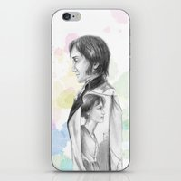 pride and prejudice iPhone & iPod Skins featuring Pride and Prejudice by Wadart