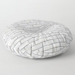 White Bricks Floor Pillow