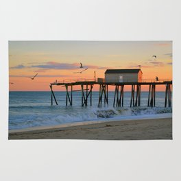 Pier at Sunset Rug