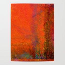 Orange Study #3 Digital Painting Poster
