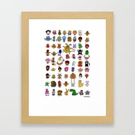 LittleWeirdos Framed Art Print