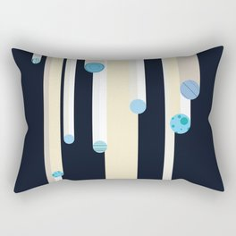 Flying Blue Objects Rectangular Pillow