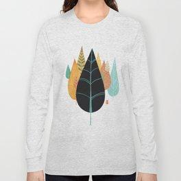 Fair Forest- Retro Orange Palette Long Sleeve T-shirt