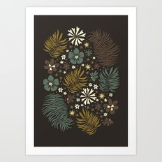 Mystical Forest (Greens) Art Print