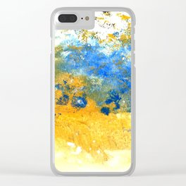 Grains, Sand and Water Clear iPhone Case