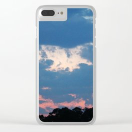 Bold And Colorful Clouds Clear iPhone Case