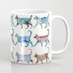 Cat Collection – Blue & Brown Palette Mug