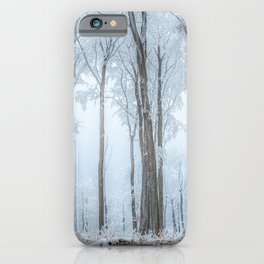 Winter forest trees #33 iPhone Case
