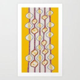 Stitches - Growing bubbles Art Print