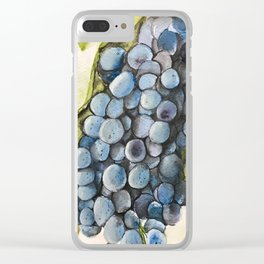 Watercolor grapes Clear iPhone Case