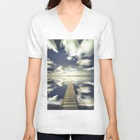 outdoor V-neck T-shirts featuring Vanity by HappyMelvin