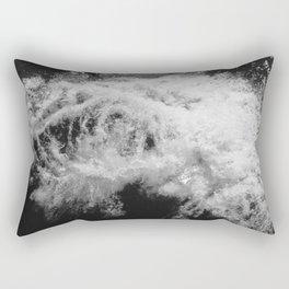 LAKE HURON WAVE B/W Rectangular Pillow