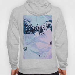 Behind the scenes - big cat hiding behind the flowers - lovely colors Hoody