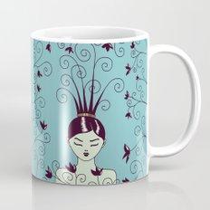 Strange Hair And Flowery Swirls Mug