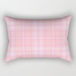 Pink Blush Plaid Pattern Rectangular Pillow