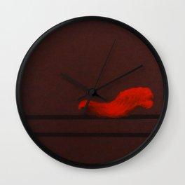 Coquelicot oreiller Wall Clock