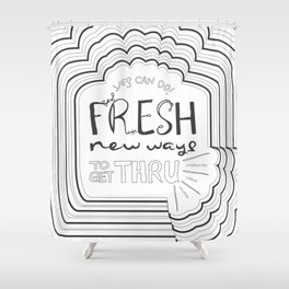 Fresh New Ways – Grey Shower Curtain