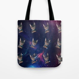 Space Angry Cat, Funny Cute Galaxy Cat Gift, Cat Lover, Dank Meme Space Kitty, Animal Lover, Kitten Tote Bag