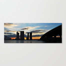 sunset over miami Canvas Print
