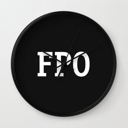 For Placement Only - FPO - Artwork (Squarespace Black) Wall Clock