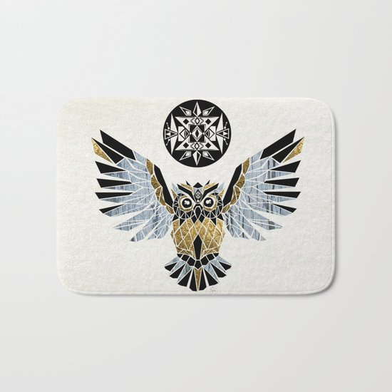 owl king! Bath Mat