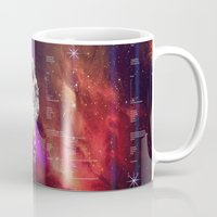 interstellar Mugs featuring Interstellar by Tony Vazquez