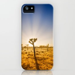 Joshua Tree National Park - Setting Sun iPhone Case
