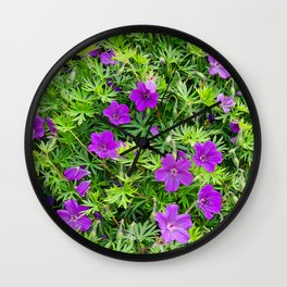 "TRUE SPECIE HARDY GERANIUM ""TINY MONSTER"" Wall Clock"