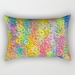 Little colorful rings Rectangular Pillow