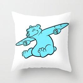 Bearplane Throw Pillow