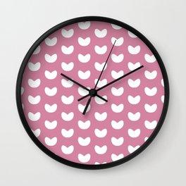 Happy Hearts (PINK) Wall Clock