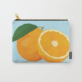 Geo Orange Carry-All Pouch