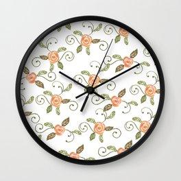 rose vine Wall Clock