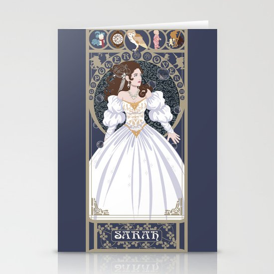Sarah Nouveau - Labyrinth Stationery Cards