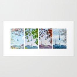 Seoul Tower Seasons - Long Art Print
