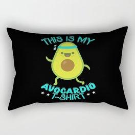 Avocado Cardio T-Shirt Vegan Gift Idea Rectangular Pillow