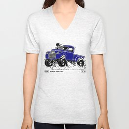 1946 Chevy Pick-up – BLUE Unisex V-Neck