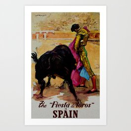 Fiesta de Toros in Spain Travel Art Print