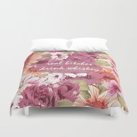 whiskey Duvet Covers featuring Real bitches drink whiskey by Cs025