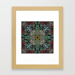 Retro Candy Land and Spiderman  Framed Art Print