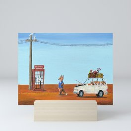 The Out of Service Phone Box Mini Art Print