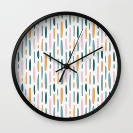 Modern minimal simple stains stripes painting urban pattern Wall Clock
