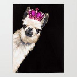 Llama Queen Poster