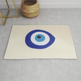 Blue Evil Eye Rug