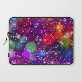 Whimsical abstract purple pink orange geometrical Laptop Sleeve
