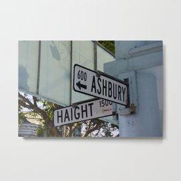 Haight & Ashbury Metal Print